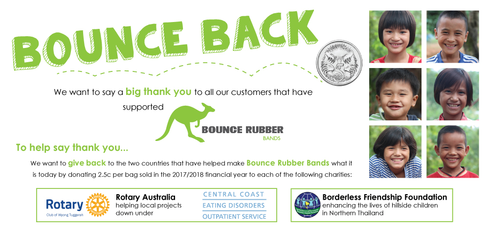 Bounce Rubber Bands Bounce Back Social Responsibility program_Rubber Bands_